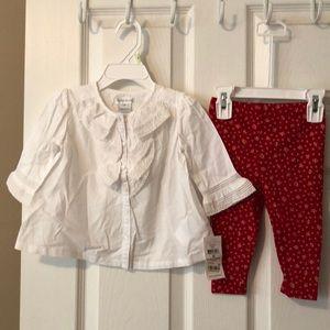 NWT Ralph Lauren 2 piece outfit size 9 months